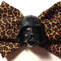 Jumbo Darth Vader Leopard Print Hair Bow by 8BitDreams on Etsy