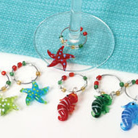 Sealife Wineglass Charms 