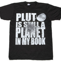 Mens PLUTO american apparel tshirt xs S M L by darkcycleclothing