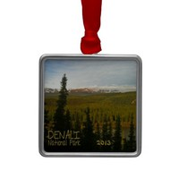 Denali National Park in Alaska Christmas Ornament