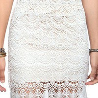 Scalloped Crochet Skirt