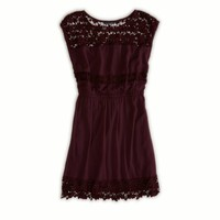 AE Crochet Cinch Dress | American Eagle Outfitters