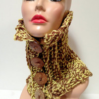 Crochet Cowl, Neck Warmer, Women's Fashion