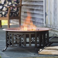 All-In-One Celtic Knot Fire Pit With Accessories - Plow & Hearth