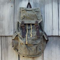 The Dakota Rugged Backpack in Sage