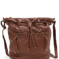 Kirra Large Faux Leather Bucket Bag at PacSun.com