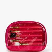 Cosmetic Brush Set & Bag | FOREVER 21 - 1035172832