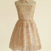 Pink and apricot bling dress