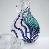 Peacock Salad Dressing Bottle by Mary Elizabeth Arts