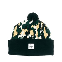 Hype | Hype Camo Bobble Beanie Hat at ASOS