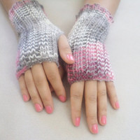 Wool Fingirless Gloves, Mittens, Wool Colorfull  handmade gloves, Hand knitting gloves, women accessories. miitten, warm, autumn trends