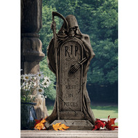 Rest in Pieces Grim Reaper Tombstone Statue - DB159491                       - Design Toscano