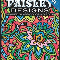 Paisley Designs Stained Glass Coloring Book (Dover Design Stained Glass Coloring Book) Paperback