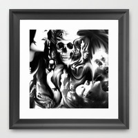 Sin and smoke Framed Art Print by Kristy Patterson Design