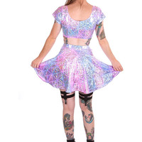 Hologram Circle Skirt