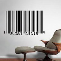 Barcode Wall Decal Wall Stickers by Agentvinyle on Etsy