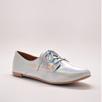 Hologram Iridescent Oxford Shoes | Edge of Urge