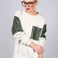Quilt Stitch Sweatshirt | Baggy Sweaters at Pink Ice