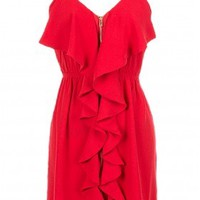 The Red Front Zipper Dress - 29 N Under