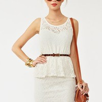 Lace Peplum Dress in  Clothes Dresses at Nasty Gal
