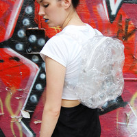 Clear Plastic PVC See Through Bubble Blow Up Backpack Bag