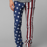 KC By Kill City Waxed Flag Skinny Jean