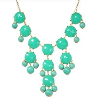 Bubble Necklace, Green Necklace, Statement Necklace (Fn0508-Green):Amazon:Jewelry