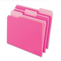 Pendaflex 2-Tone File Folders, 1/3 Cut, Top Tab, Letter, Light Pink, 100/Box (15213PIN):Amazon:Office Products