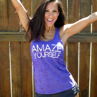 Amaze Yourself Burnout ALine Racerback by FiredaughterClothing