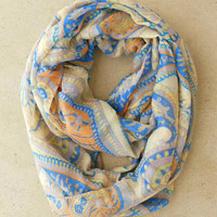 Playful Paisley Loop Scarf [4396] - $16.00 : Vintage Inspired Clothing & Affordable Summer Frocks, deloom | Modern. Vintage. Crafted.