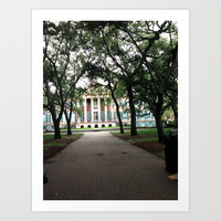 College Of Charleston Art Print by Kelli Schneider
