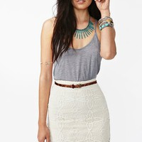 Jillian Crochet Skirt - Ivory in What&#x27;s New at Nasty Gal