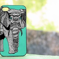 Tribal Elephant iphone case black/white for iphone 4/4s & iphone 5 case