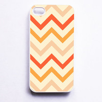 Tangerine Chevron iphone Case by onyourcasestore on Etsy