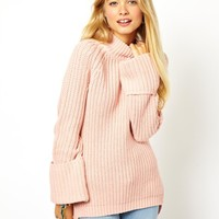ASOS | ASOS Sweater With Rolled Back Sleeves at ASOS
