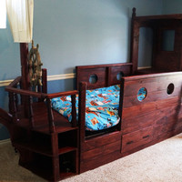 Pirate Boat Bed - Awesome Wooden Pirate Bed - Adventure Bed - Ship - Child's Bed