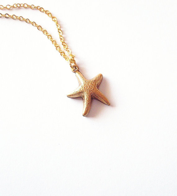 Starfish Charm Necklace by dreamsbythesea