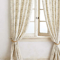 Anthropologie - Wildflower Applique Curtain
