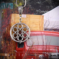 Chainmaille Miniature Dream Catcher Pendant - Stainless Steel