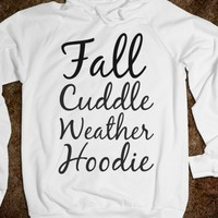 Supermarket: Fall Cuddle Weather Hoodie from Glamfoxx Shirts
