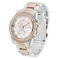 Merona® Two Tone Round Case Bracelet Watch with Stones