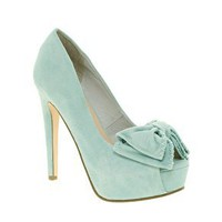 Miss KG | Miss KG Annalise Bow Front Platform Peep Toe Shoes at ASOS