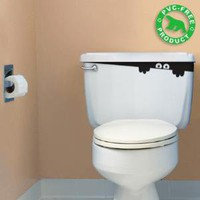 Toilet Monster Hu2 Design original pvc free biological eco friendly decals decoration vinyl