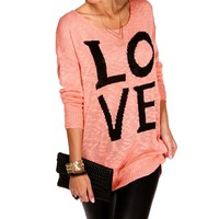 Dust Pink Oversized Love Sweater