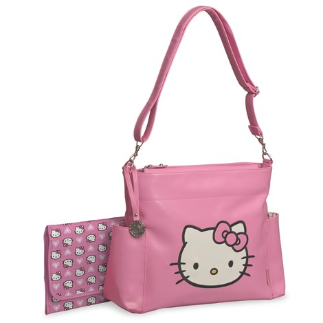 hello kitty faux leather diaper bag pink from burlington coat. Black Bedroom Furniture Sets. Home Design Ideas