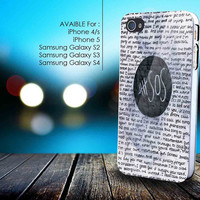 5 SOS Seconds of Summer quote collage for iphone 5/5s,iphone 4/4s, samsung galaxy s2 I9100,s3 I9300,s4 I9500