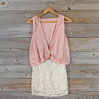 Sea Crystal Dress in Blush