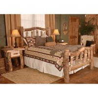 Wasatch Log Furniture - Aspen Silver Creek  Bedroom Set - Log Furniture Bedroom Sets
