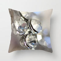 Sparkle ©, macro photography. Throw Pillow by JUSTART