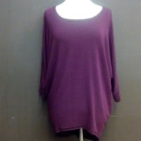 3/4 sleeve dolman hi low ...